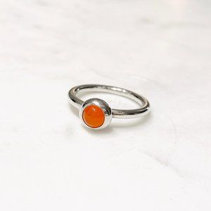 Pandora Carnelian Smooth Cabochon Ring